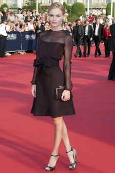 Kate Bosworth in a Valentino cocktail dress at the  premiere  Another Happy Day at The Deauville Film Festival 2011.