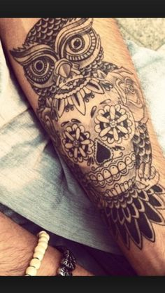 tatouage hibou homme avant bras pinterest tatouage. Black Bedroom Furniture Sets. Home Design Ideas