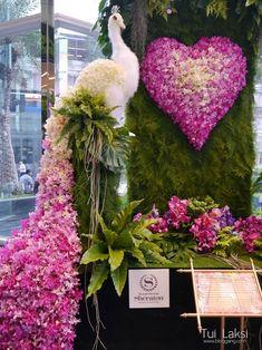 Floral & Event Design Atlanta by Michal Evans Stage Decorations, Flower Decorations, Wedding Decorations, Wedding Arrangements, Floral Arrangements, Flower Show, Flower Art, Arreglos Ikebana, Peacock Decor