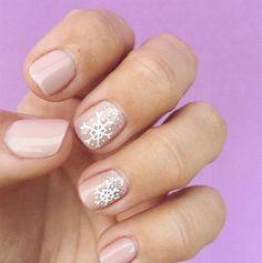 Favorite Winter Manicure (cute little snowflakes via Olive & June)
