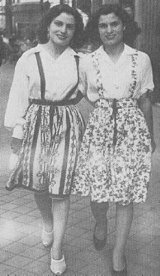 Amália Rodrigues with her sister Celeste, Madrid, 1943.
