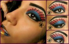 Spiderman Costume Makeup too many to choose i think im just gona combine ideas if i have to