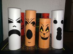 Painted Pringles cans