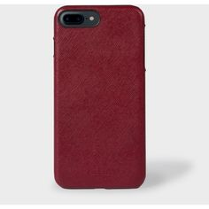 Paul Smith Burgundy Saffiano Leather iPhone 7 Plus Case ($76) ❤ liked on Polyvore featuring accessories and tech accessories