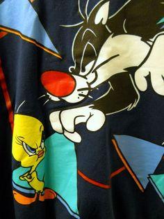 Looney Tunes Sweatshirt 18-20W Sylvester Tweety Bird Dont Even Think About It