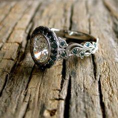 Yehuda Diamond Engagement Ring in Platinum with by SlowackJewelry