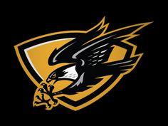 Eiker Falcons by Slavo Kiss on Dribbble Football Logo Design, Game Logo Design, Monogram Logo, Dojo, Falcon Logo, Logo Luxury, Sports Decals, Owl Logo, Eagle Art