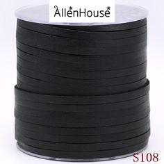 Compras online mais barato preto primeira camada de Couro liso corda couro 5mm largura para multi wraps pulseiras material