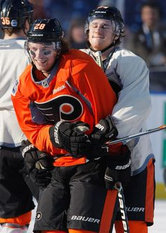 Claude Giroux and Matt Read. I just love this for so many reasons! ;)