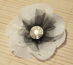 Hazel and Honeysuckle: No-Sew Fabric Flowers Week (#6) - Super Simple Embroidered Fabric and Tulle