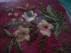 Detail - antique beaded work http://sara-t.gallery.ru/