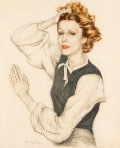 Борис Шаляпин. «Портрет Марии Шаляпиной-Карпиловской», 1935
