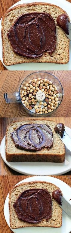 Healthy Homemade Nutella! Made with xylitol and almond milk. Heaven on your morning sprouted-grain toast.