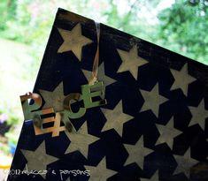 Rustic Painted American Flag {Luxe 4 Less} Tutorial #GluenGlitter #cBias