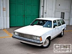 Harold Trout's 1980 Chevy Malibu Wagon has a 489 cubic-inch big block that produces 650 horsepower