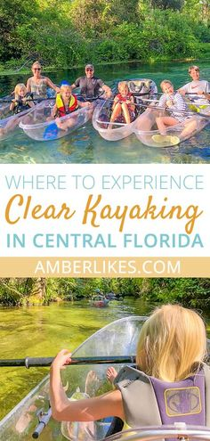 We will share with your the best places to experience clear kayaking in Central Florida with your family Beach Vacation Checklist, Beach Vacation Meals, Beach Vacation Outfits, Florida Vacation, Florida Travel, Florida Beaches, Beach Trip, Travel Usa, Clearwater Florida