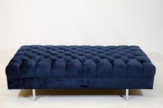 Tufted Velvet Bench | From a unique collection of antique and modern benches at http://www.1stdibs.com/furniture/seating/benches/