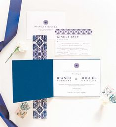 A simple yet luxurious Portuguese wedding invitation booklet design. This blue colored modern wedding invitation is Inspired by the Lisbon Blue Tiles. Original Wedding Invitations, Wedding Invitation Paper, Affordable Wedding Invitations, Wedding Invitation Inspiration, Destination Wedding Invitations, Wedding Stationery, Destination Weddings, Wedding Venues Toronto, Inexpensive Wedding Venues