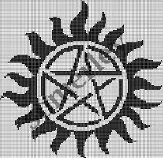 CROSS STITCH PATTERN Supernatural Anti-Possession Tattoo. $1.50, via Etsy.