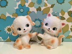 Image of VINTAGE KITSCH CAT AND DOG
