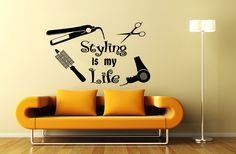 Wall Decal Beauty Salon Hair Spa Fashion Styling is door CozyDecal
