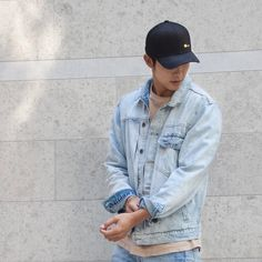 "V T 徐永燊 (@victortsui) on Instagram: ""Denim on denim""    Mens street style  Fashion"