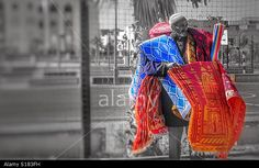 Carpet Street Vendor - Agadir, Morocco