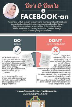 Dos and Dont's Facebook dan Bisnis   #infobisnisMLM #jengnad #memberikanbuktibukanjanji #indonesia #facebook #socialmedia