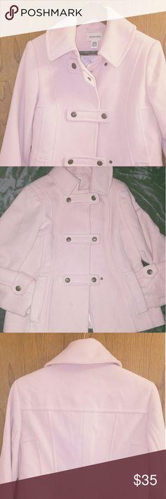 PinkPeacoat Pink double-breasted peacoat with pockets St. John's Bay Jackets & Coats Pea Coats
