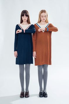 Space and Time Dress (Navy) - misspatina.com
