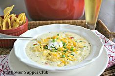 Sunflower Supper Club: Southwestern Cream of Potato Soup