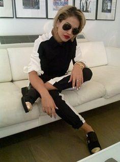 British Vogue's 'Today I'm Wearing' blog -  August 14, 2012 #RitaOra #Style #Vogue