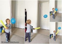Suspended balloon play