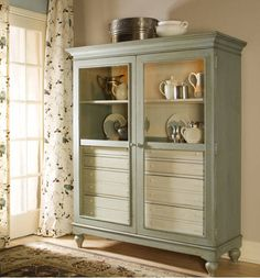 Paula Deen Bag Lady Cabinet in soft green. Just got this for my sewing room. I love it!