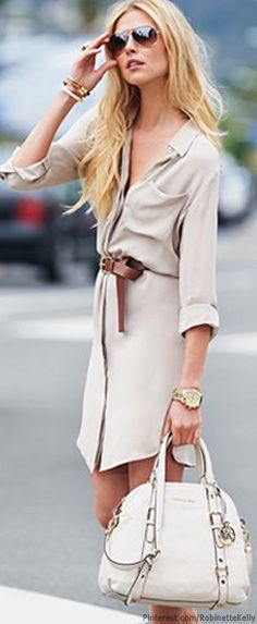 Street Style  white MK tote | More outfits like this on the Stylekick app! Download at http://app.stylekick.com