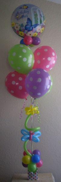 Butterfly Birthday Wishes Balloon Bouquet ~ Tulsa, OK