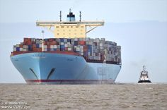 EBBA MAERSK (MMSI: 220497000) Ship Photos | AIS Marine Traffic Container Terminal, Maersk Line, Marine Traffic, Southampton, Rotterdam, Shipping Company, Prepping, Ships, Exterior