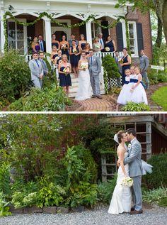 Blue and White Wedding Ideas - Unionville Vineyards Wedding by Tami Melissa Photography, LLC