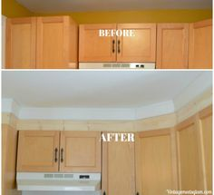 Easy DIY Extending Cabinets to the Ceiling