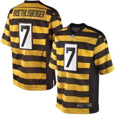 bd4a0a127 Nike Ben Roethlisberger Pittsburgh Steelers Limited Throwback Jersey –  Black Gold Steelers Uniforms