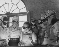 These women at a Florida vocational school learning how to do work to support the war effort in the 1940s.
