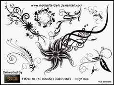 Floral 10 by mohaafterdark.deviantart.com on @deviantART