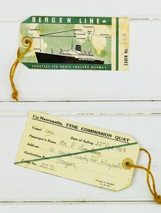 Vintage Bergen Luggage tag - Pillarboxblue.com
