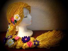 Disney Tangled Rapunzel Inspired Crochet Hat by HarvesterProducts, $120.00 Rapunzel Braid, Tangled Rapunzel, Disney Tangled, Walt Disney, Halloween Crochet, Holiday Crochet, Yarn Braids, Crochet Disney, Halloween Items