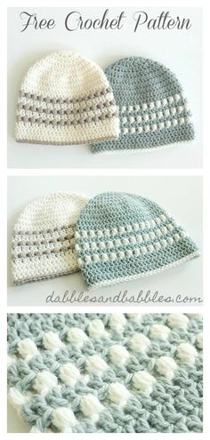 Puff Stitch Hat Free Crochet Pattern Puff Stitch Baby Beanie Hat Free Crochet Pattern Baby's sleep problems:Hat for babies 5 /Easy to crochet beanie Crochet Diy, Diy Crochet Patterns, Bonnet Crochet, Stitch Crochet, Crochet Gratis, Crochet Motifs, Crochet Projects, Knitting Patterns, Knitting Projects