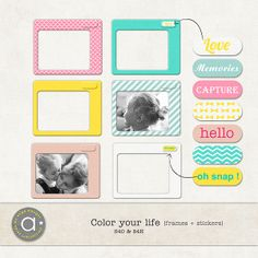 Color your life - polaroids :: Frames and Clusters :: Elements :: Memory Scraps