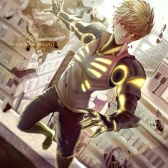 AMAZING Genos art by TheCecile. Check out more of her work at http://animezeal.com/epic-art/thececile/ #anime #onepunchman #genos