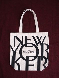 The New Yorker Canvas Tote Bag Book Bag New York Magazine | Canvas ...