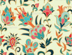 turkish tulip pattern - Поиск в Google