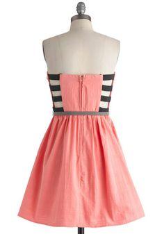 Catch You Ladder Dress, #ModCloth pink dress cut out